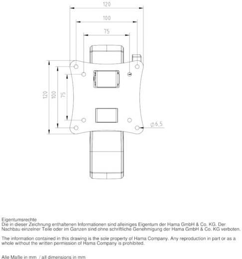 "TV-Wandhalterung 25,4 cm (10"") - 66,0 cm (26"") Neigbar+Schwenkbar, Rotierbar Hama FULLMOTION ""Ultraslim"" XS 1 Arm"