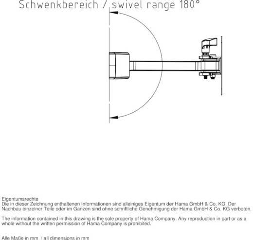 hama fullmotion ultraslim xs 1 arm tv wandhalterung 25 4 cm 10 66 0 cm 26 neigbar. Black Bedroom Furniture Sets. Home Design Ideas