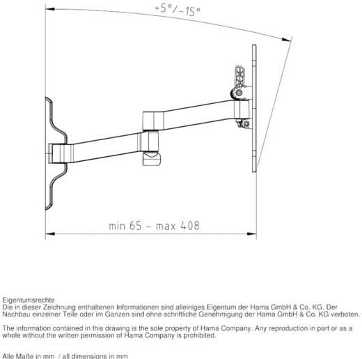 "TV-Wandhalterung 25,4 cm (10"") - 116,8 cm (46"") Neigbar+Schwenkbar, Rotierbar Hama FULLMOTION"