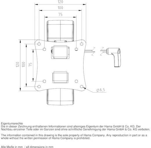 "TV-Wandhalterung 25,4 cm (10"") - 66,0 cm (26"") Neigbar, Rotierbar Hama MOTION ""Ultraslim"" XS"