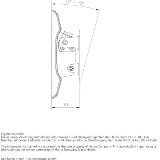 """Hama TILT """"Ultraslim"""" TV-Wandhalterung 25,4 cm (10"""") - 66,0 cm (26"""") Neigbar"""