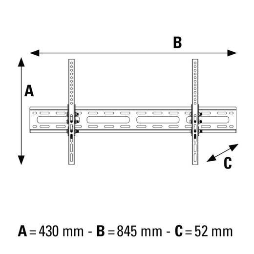 "TV-Wandhalterung 94,0 cm (37"") - 190,5 cm (75"") Neigbar Hama MOTION"