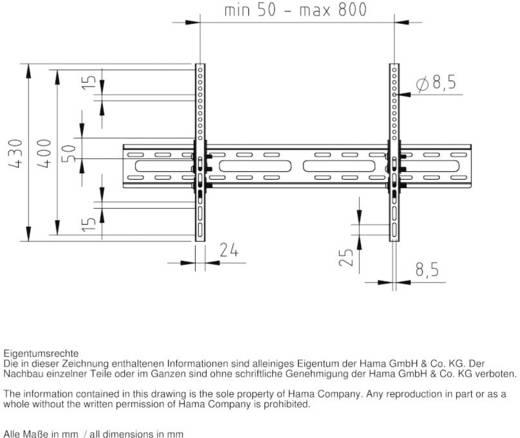 "Hama MOTION TV-Wandhalterung 94,0 cm (37"") - 190,5 cm (75"") Neigbar"