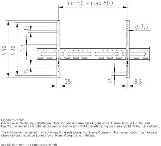 "TV-Wandhalterung 94,0 cm (37"") - 182,9 cm (72"") Starr Hama FIX"