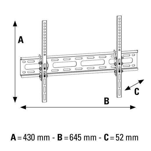 "TV-Wandhalterung 94,0 cm (37"") - 165,1 cm (65"") Neigbar Hama MOTION"