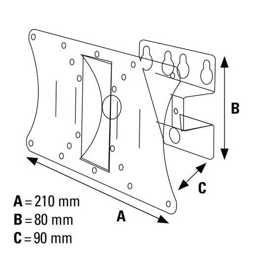 """TV-Wandhalterung 25,4 cm (10"""") - 81,3 cm (32"""") Neigbar+Schwenkbar Hama MOTION S"""