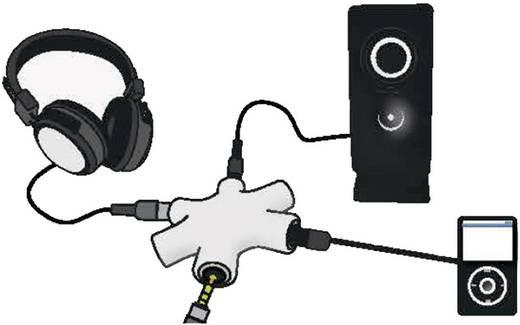 Klinke Audio Y-Adapter [1x Klinkenbuchse 3.5 mm - 5x Klinkenbuchse 3.5 mm] Schwarz SpeaKa Professional
