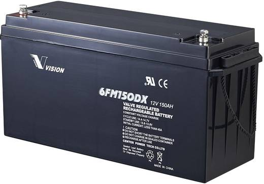 Solarakku 12 V 150 Ah Vision Akkus 6FM150DX Blei-Vlies (AGM) (B x H x T) 485 x 240 x 172 mm M8-Schraubanschluss