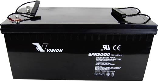 Solarakku 12 V 200 Ah Vision Akkus 6FM200PX Blei-Vlies (AGM) (B x H x T) 526 x 246 x 238 mm M10-Schraubanschluss