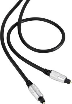 Digitální audio kabel Toslink SpeaKa, 1 m, černá