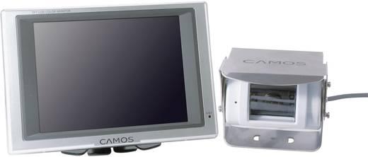 Kabel-Rückfahrvideosystem Rückfahrvideosystem weiss RV-564 Camos schwenkbar, IR-Zusatzlicht, integriertes Mikrofon, inte