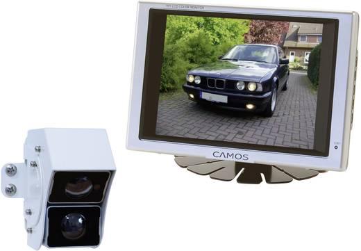 Kabel-Rückfahrvideosystem Rückfahrvideosystem RV-567 Camos Doppellinse, 2 Kamera-Eingänge, integriertes Mikrofon, integr