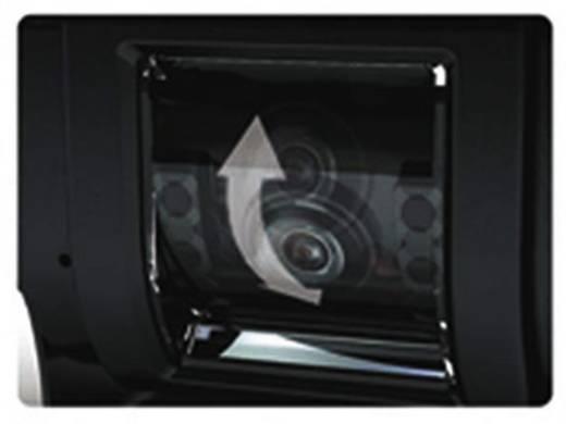 Kabel-Rückfahrvideosystem Rückfahrvideosystem weiss RV-754 Camos schwenkbar, IR-Zusatzlicht, integriertes Mikrofon, inte