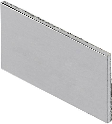 Bezeichnungsschild selbstklebend (B x H) 11 mm x 22 mm unbeschriftet Aluminium Schlegel BZ16U 10 St.