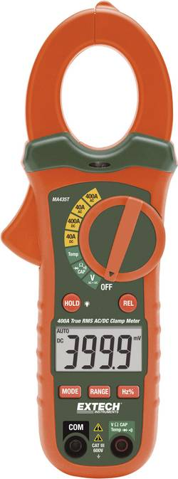 Pince ampèremétrique pour courant continu/alternatif TRMS 400A Etalonnage ISO Extech MA435T MA435T