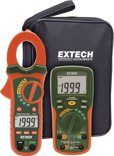 Stromzange, Hand-Multimeter digital Extech ETK30 Kalibriert nach: Werksstandard (ohne Zertifikat) CAT III 600 V Anzeige
