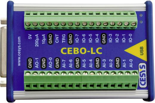 CESYS C028152 USB Messbox 14/7 Analog-In 16 Bit, 2 Analog-Out, 20 Dig. IO, galv. isoliert