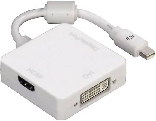 DisplayPort / DVI / HDMI Adapter [1x Mini-DisplayPort Stecker - 1x HDMI-Buchse, DVI-Buchse 24+5pol., DisplayPort Buchse]