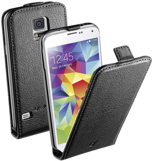 Cellularline Flap Essential Case Flip Cover Passend für: Samsung Galaxy S5 Schwarz