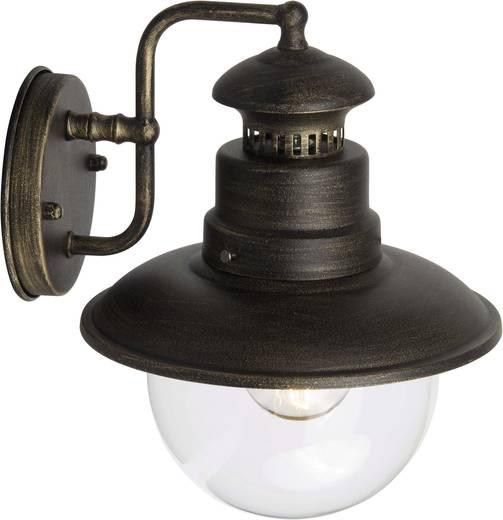 Außenwandleuchte Energiesparlampe, LED E27 53 W Brilliant Artu 96128/86 Schwarz, Gold