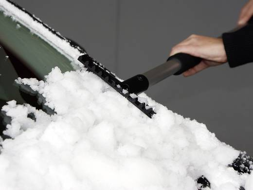 Aluminium, Kunststoff Eiskratzer / Schneebesen Softgriff, ausziehbar (L x B) 90 cm x 60 cm EAL Deluxe Van, SUV, Bus Schw