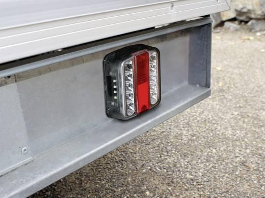 LED Anhänger-Rückleuchte links, rechts 12 V Rot, Silber LAS