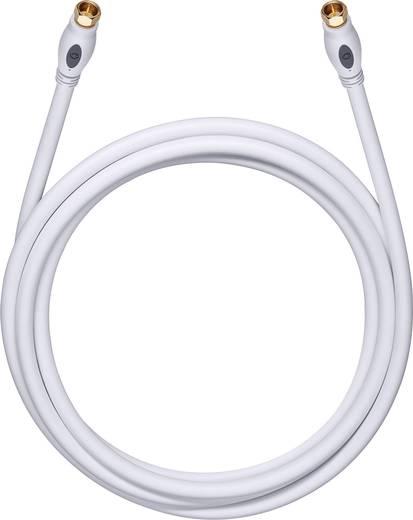 Antennen, SAT Anschlusskabel [1x F-Stecker - 1x F-Stecker] 0.75 m 120 dB vergoldete Steckkontakte Weiß Oehlbach Transmis