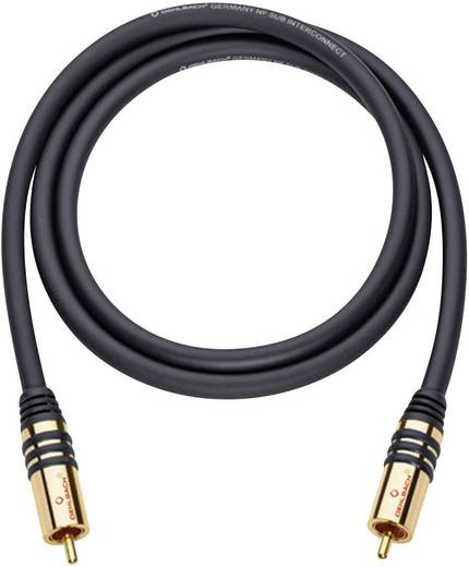 Cinch Audio Anschlusskabel [1x Cinch-Stecker - 1x Cinch-Stecker] 1 m Schwarz vergoldete Steckkontakte Oehlbach NF Sub