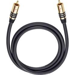 Cinch audio prepojovací kábel Oehlbach 21533, 3 m, čierna