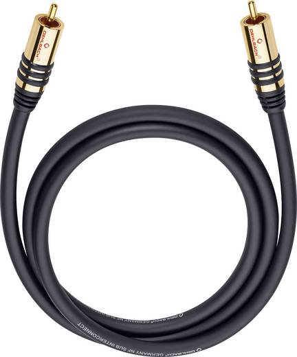 Cinch Audio Anschlusskabel [1x Cinch-Stecker - 1x Cinch-Stecker] 8 m Schwarz vergoldete Steckkontakte Oehlbach NF Sub
