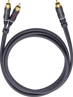 Cinch audio Y kabel Oehlbach 23708, 8 m, antracitová
