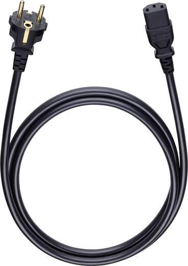Anschlusskabel [1x Schutzkontakt-Stecker - 1x Kaltgeräte-Buchse C13] 3 m Schwarz Oehlbach Powercord C 13