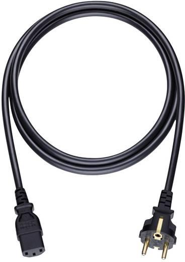 Anschlusskabel [1x Schutzkontakt-Stecker - 1x Kaltgeräte-Buchse C13] 5 m Schwarz Oehlbach Powercord C 13