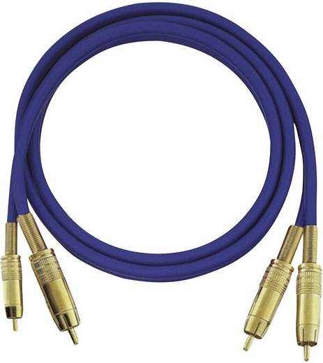 cinch audio anschlusskabel 2x cinch stecker 2x cinch stecker m blau vergoldete. Black Bedroom Furniture Sets. Home Design Ideas