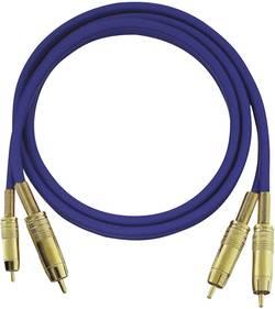Cinch audio kabel Oehlbach 2015, 0.50 m, modrá