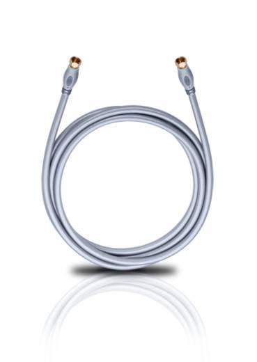 Antennen, SAT Anschlusskabel [1x F-Stecker - 1x F-Stecker] 2.20 m 120 dB vergoldete Steckkontakte Weiß Oehlbach Transmis
