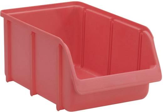 Lagersichtbox Größe 4 Rot (L x B x H) 335 x 205 x 155 mm