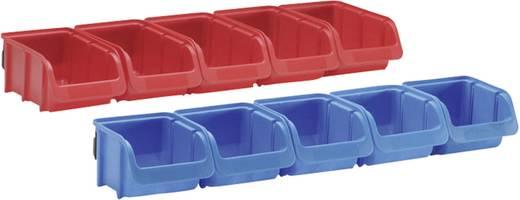 Lagersichtboxen-Set 10-tlg. Rot, Blau