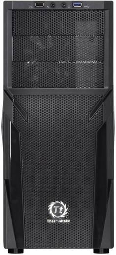 Midi-Tower PC-Gehäuse Thermaltake Versa H21 Schwarz Werkzeugfreie Festplatteninstallation, 1 vorinstallierter Lüfter