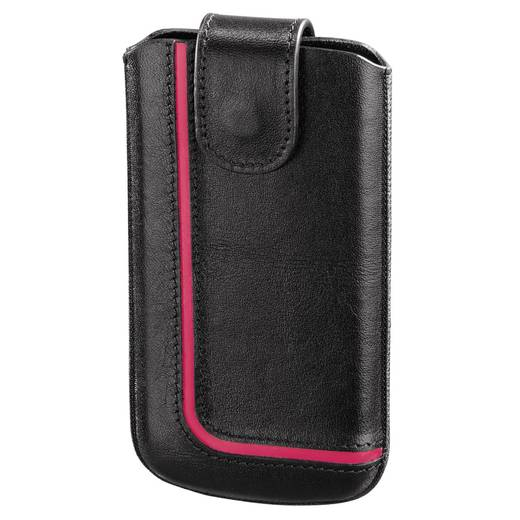 Hama Neon Black taille M Sleeve , Innenmaß (B x H x T): 64 x 123 x 10 mm Universal Schwarz, Pink