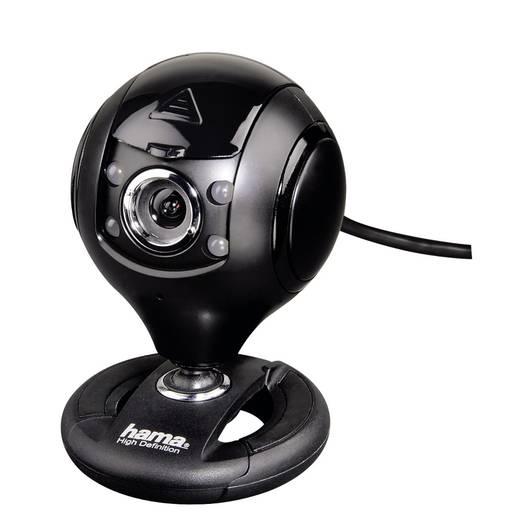 HD-Webcam 1280 x 1024 Pixel Hama Spy Protect Standfuß, Klemm-Halterung