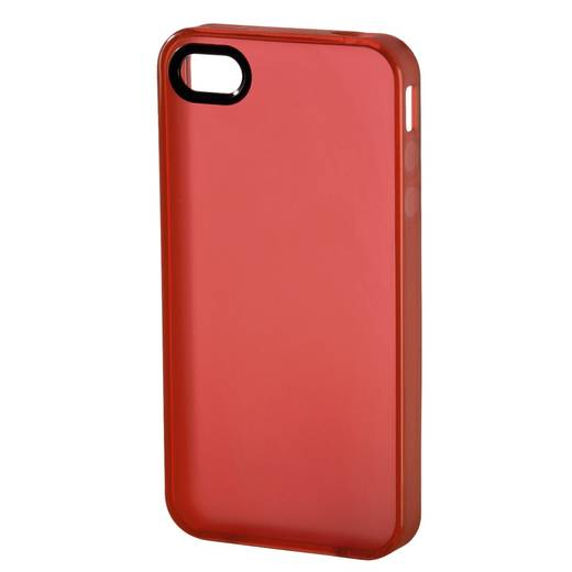 iPhone Backcover Hama TPU Passend für: Apple iPhone 4, Apple iPhone 4S, Rot