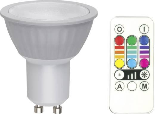 LED GU10 Reflektor 3.2 W = 25 W RGB EEK: B dimmbar, colorchanging, inkl. Fernbedienung 1 St.