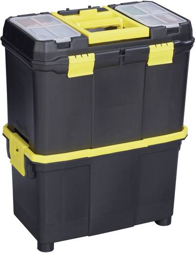 Werkzeugbox Alutec 56350 Kunststoff Schwarz, Gelb
