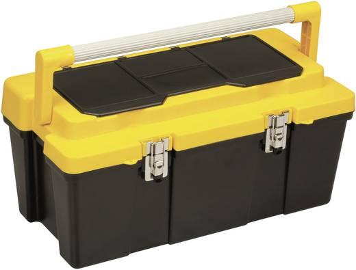 Werkzeugkasten unbestückt Alutec 56470 Kunststoff Schwarz, Gelb