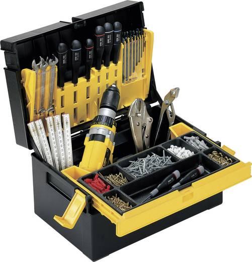 Werkzeugkasten unbestückt Alutec 56550 Kunststoff Schwarz, Gelb