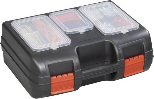 Werkzeugkasten unbestückt Alutec 56610 Kunststoff Schwarz, Rot