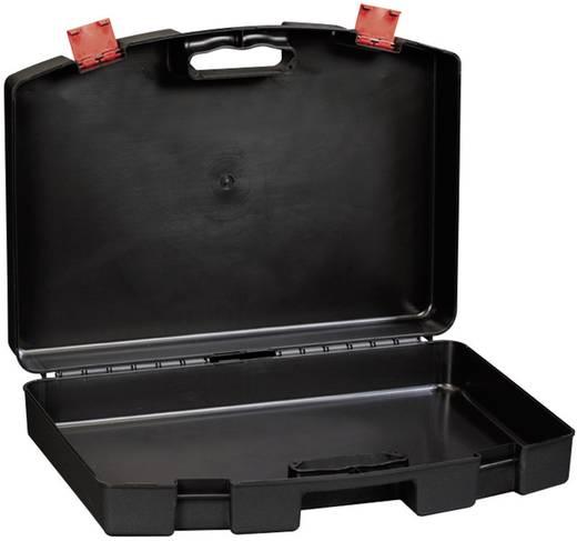 Werkzeugkasten unbestückt Alutec 56640 Kunststoff Schwarz, Rot