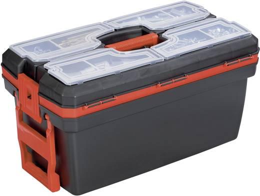 Werkzeugkasten unbestückt Alutec 56295 Kunststoff Schwarz, Rot