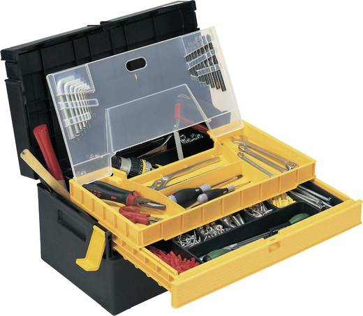 Werkzeugkasten unbestückt Alutec 56560 Kunststoff Schwarz, Gelb